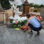 Visita ao túmulo de Dona Veneranda